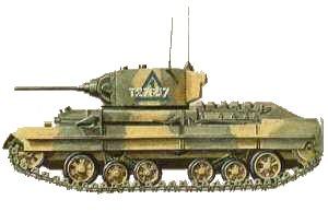 "Drawing of a Infantry Tank Mk III ""Valentine"""